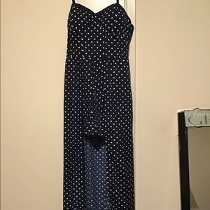 High-low Polka Dot Romper Dress